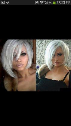 short platinum white blonde choppy bob... Ahhhh by Kimara
