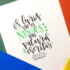 """Os livros são os ninhos das palavras escritas"" - Fabiola Barcelos #frases #parcerias #gratidão . . . #caligrafia #calligraphy #feitoamao #TYxCA #freehand #handmade #moderncalligraphy #typespire #handlettering #lettering #typography #typostrate #design #art #style #goodtype #customtype #inspiration #typism #instadaily #instalike #instagood #poster #brushpen #brushlettering #motivation"