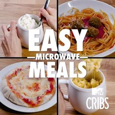 food recipes videos You Can Make These Meals In Your Microwave! Healthy Microwave Meals, Easy Microwave Recipes, Microwave Dinners, Microwave Food, Healthy Breakfasts, Eating Healthy, Clean Eating, Easy College Meals, College Cooking