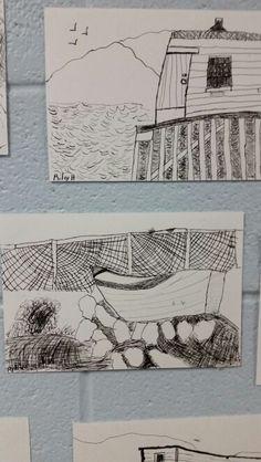 Ink drawings grade 4