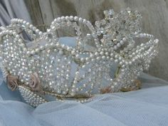 antique vintage French treasures by mereltreasures Pageant Crowns, Tiaras And Crowns, Royal Jewels, Crown Jewels, Vintage Ballet, Bridal Crown, Vintage Pearls, Queen Bees, Beautiful Rings