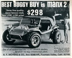 1969 Manx 2 Buggy Advertising Hot Rod Magazine October 1969