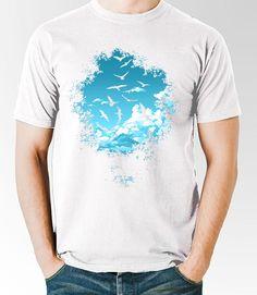 oiseaux de haute ciel t-shirt - dzgraphique