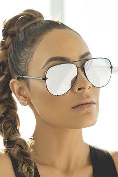 c4f6d6cf3aa Quay Australia x Desi Perkins BLACK SILVER High Key Designer Sunglasses  Black Sunglasses