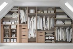 skylights instead of dormers. Good Closet organization idea.