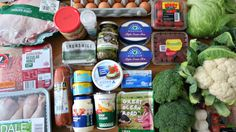 Low Carb and Keto Diet friendly grocery shopping haul of foods