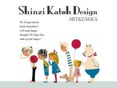 雑貨デザイナーShinzi Katohの公式ホームページです。Shinzi Katoh Designは、様々な雑貨デザインに加え、企画、絵本制作を行っています。