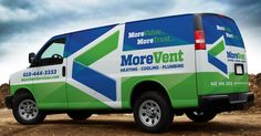Logo design, fleet branding, and tagline development for a new heating and air…
