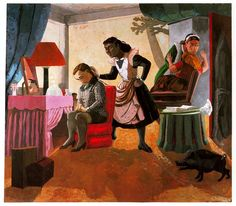 THE MAIDS, Paula Rego (b1935 Lisbon, Portugal)