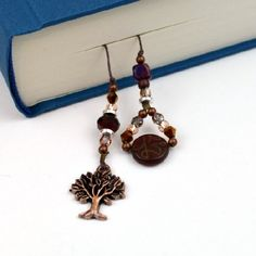 Make up a special bookmark for your favorite book or as a gift to a book-loving friend!  A great quick project for using up your beads!