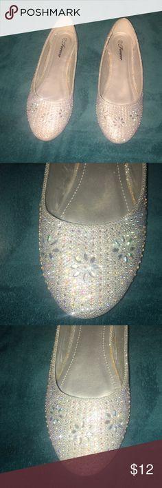 c78c8000177 Flats with beautiful rhinestone Size 10 NEW Flats with beautiful rhinestone  Size 10 NEW FOREVER Shoes Flats   Loafers