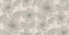 Poppy Flower (0280POGLACI) - Little Greene Wallpapers - A soft subtle reinterpretation of this 60's floral pattern with large scale Poppy flowers with mottled effect against a striped background.  Shown in the Glacier, silver grey colourway. Please request a sample for true colour match.