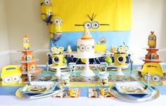 "BA-NA-NA! 🍌We're going ""bananas"" over this super cute Minions Party from @sweetlychicevents  Shop this look click the link. #minionsparty #partyideas #minions #birthdaypartyideas #orientaltrading"