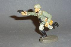 Alter Elastolin Soldat Offizier stürmend mit Pistole 7,5cm Serie   eBay