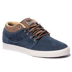 GLOBE Mahalo Mid navy brown chaussures de skate Mark Appleyard 79,00 € #skate #skateboard #skateboarding #streetshop #skateshop @playskateshop