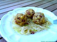 Tiroler Knödel mit Krautsalat