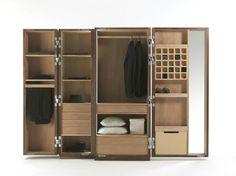 Wooden wardrobe NUIT by Riva 1920 | design Giuliano Cappelletti