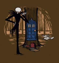 """Nightmare Before Christmas"" meet ""Doctor Who"" Tee #funnytshirtsforguys"