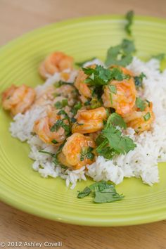 Red Thai Coconut Curry Shrimp (Coconut Milk, Thai Red Curry Paste, Fish Sauce, Brown Sugar, Shrimp, Rice, Chopped Parsley, Served with Peapods OTS)