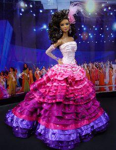 Pretty ruffles! Ninimomo Miss Venezuala 2011 ooak barbie