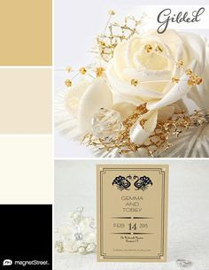 Gold and Black wedding color palette