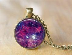 Collar de espacio las mujeres galaxia joyas arte por PrintGlass