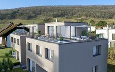 Visualisierungen Architektur: STOMEO Architektur Visualisierung - Zürich Style At Home, Mansions, House Styles, Home Decor, Architecture Visualization, Human Settlement, Real Estates, Floor Layout, Porches