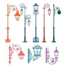 Street Lamp Cuttable Design Cut File. Vector, Clipart, Digital Scrapbooking Download, Available in JPEG, PDF, EPS, DXF and SVG. Works with Cricut, Design Space, Cuts A Lot, Make the Cut!, Inkscape, CorelDraw, Adobe Illustrator, Silhouette Cameo, Brother ScanNCut and other software.