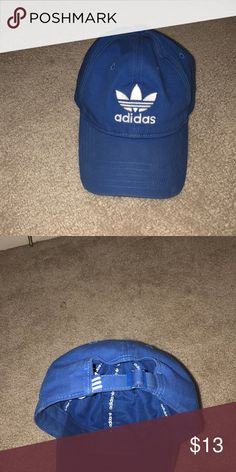 d2882d17390fc Adidas Adjustable Fit Baseball Cap Blue Adidas Hat adidas Accessories Hats  Adidas Hat
