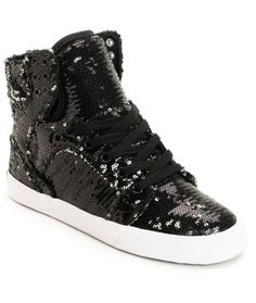Supra x A-Morir Skytop Black  sequin  shoe  zumiez Black High 0231dcc68af
