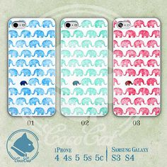 Elephant iPhone Cases iPhone 5 Case iPhone 5s Case by CoCoCatCase, $6.99