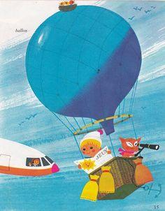 Alain Grée Illustration From Vintage 1960s French by Pommedejour, $8.00