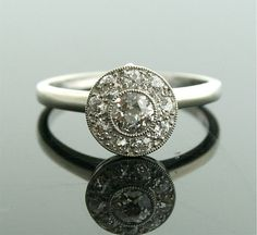 Reconstructed Antique Ring - White Gold and Diamond Ring