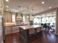 White Cabinets and Dark Grey Island -- love -- House of Turquoise: Karista Hannah and Lauren Harp