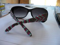 Sunglasses with beaded arms