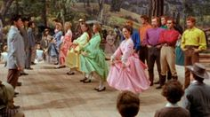 """Seven Brides For Seven Brothers"" (1954) - Girls teasing the boys at the Barn Dance"