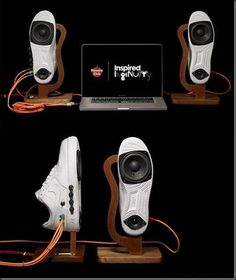 Nike shoes is made into cool Speakers