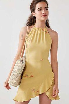 Flynn Skye Monica Halter Mini Dress