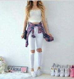 fashion, hair, and outfit image Teen Fashion Outfits, Mode Outfits, Girly Outfits, Cute Casual Outfits, Cute Fashion, Outfits For Teens, Pretty Outfits, Girl Fashion, Fashion Hair