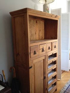 Tall Pine Cabinet/armoire/hutch. Brooklyn HeightsPine CabinetsBedroom ...
