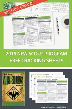 Webelos Cub Scout Tracking. Great way to stay organized with scouts.