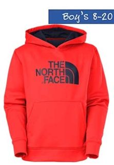The North Face Logo Surgent Pullover Hoodie in Red for Boys A9EM-15Q