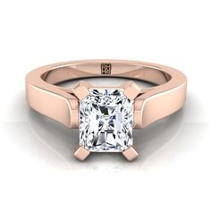Princess Cut Diamond Solitaire Engagement Ring With Cathedral Setting And Squared Edge Shank In Yellow Gold Radiant Cut Engagement Rings, Sapphire Diamond Engagement, Princess Cut Engagement Rings, Diamond Solitaire Rings, Rose Gold Engagement Ring, Diamond Wedding Bands, Solitaire Engagement, Diamond Jewelry, Expensive Rings
