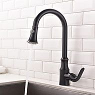 Antique+Art+Deco/Retro+Tall/High+Arc+Pull-out/Pull-down+Standard+Spout+Centerset+Thermostatic+Rain+Shower+Pullout+Kitchen+Faucet+–+AUD+$+206.28