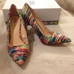 """PRABAL GURUNG for Target Multicolor Heels Limited edition Prabal Gurung for Target vibrant multicolor pumps. New condition, never worn. 3-4"""" heels--not sure where you're supposed to measure from...in original box. Prabal Gurung for Target Shoes Heels"""