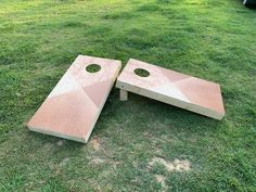 Wood Grain Cornhole 3M Decal Wrap Set Laminated Pick Wood