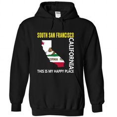 South San Francisco, California - This Is My Happy Plac - #gift basket #coworker gift. BUY-TODAY => https://www.sunfrog.com/States/South-San-Francisco-California--This-Is-My-Happy-Place-sshjsdxmig-Black-58421841-Hoodie.html?68278