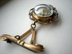 Antique Watch Brooch Rolled Gold Swiss Ladies Watch Pin.