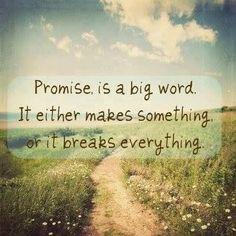 A promise is a covenant. God made a promise, a covenant, with Himself before the world began. We are the beneficiaries of that covenant,even though we were not yet in existence. Nothing is broken.