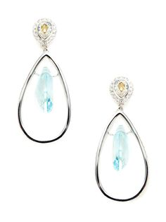 Phoebe Open Teardrop Drop Earrings by Swarovski Jewelry at Gilt